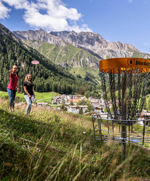 Discgolf course in Samnaun