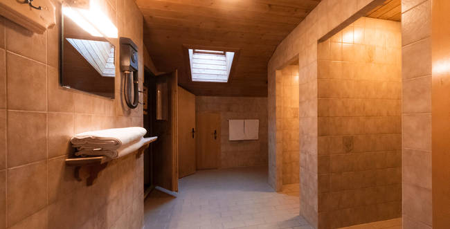 Sauna, showers